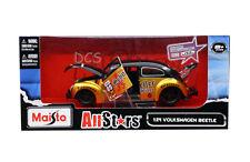 Maisto AllStars Volkswagen Beetle Gold / Black 1/24  Diecast Car 31023BKGLD
