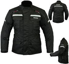 Mens Motorbike Motorcycle Jacket Waterproof Textile Armoured Black Large