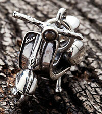 VESPA SCOOTER 925 STERLING SILVER CHARM PENDANT FOR CHAIN NECKLACE MOTORCYCLE NR
