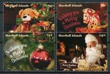 Marshall Islands 2018 MNH Christmas Decorations Santa Teddy Bears 4v Set Stamps
