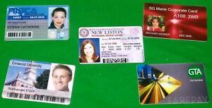 One Custom Business Company Staff Membership ID Card Printed on Plastic PVC