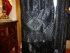 ralph lauren collection vintage beaded scarf AMAZING SHINES LIKE DIAMONDS