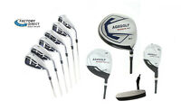 Men's XL Complete Golf Set wDr+Wood, Hybrid+5-9 Irons, Wedge, Putter All Lengths