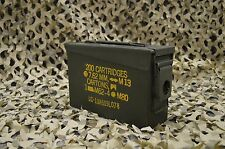 MILITARY M19A1 7.62 - 308 Cal  AMMO CAN VERY GOOD CONDITION * FREE SHIPPING *