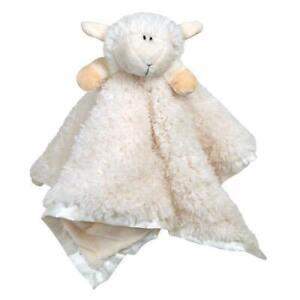 "Stephan Baby Plush Cuddle Bud Blankie Lamb - Satin Trimmed - Cream (18"" X 18"")"
