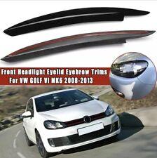 Ciglia Sopracciglia per VW Golf 6 2008-2013 palpebre fari ABS Plastica Nero