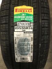 1 New 235 55 18 Pirelli Scorpion Verde All Season Tire