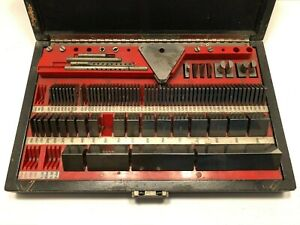 "Vintage 1970 ""Pratt & Whitney"" Hoke Precision Square Gage Block Set"