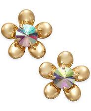KATE SPADE 12K Gold Plated Sunset Blooms Flower Stud Earrings NEW