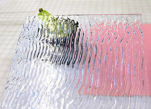 SPARKLING CLEAR ICICLES Transparent Stained Glass SHEET 7x4