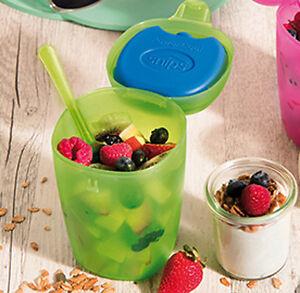 Fruit Ice Box 500ml 0,5lt per trasportare e conservare frutta colore verde Sninp