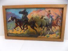 """The Wild Horse Catcher"" 15""x8"" Native American Lithograph..Gerard Delano Signed"