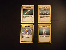 Original Base Set Pokemon Trainer Cards