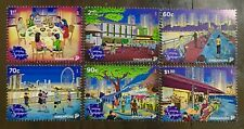 Singapore stamps 2018 National Day issue 6v - DINNER, EXERCISE, FISHING, orchid