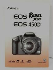 Canon Rebel XSi / 450D Camera Instruction Manual SPANISH Text LNC (471)