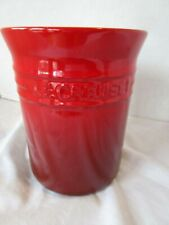 Le Creuset Utensil Crock Stoneware Holder Cerise Cherry Red Gradient 0405 EUC