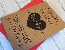 Handmade Personalised 1st Valentines Day Card From The Bump: New Daddy Dad First