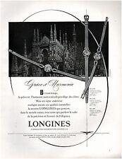 ▬► PUBLICITE ADVERTISING AD Montre Watch LONGINES Bleuer 1958