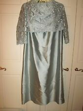 Jovani icy blue strapless dress & bolero jacket size 18