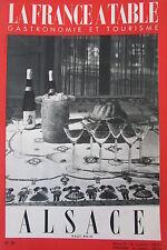 Gastronomia Turismo Folklore Rivista Francia Tavolo 1952 N°36 Alsace Alto Reno