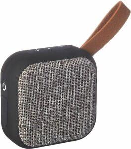 Studio Series Speaker by Tzumi - Square Mini Waterproof Bluetooth Fabric Speaker