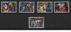 GB 1992 - Christmas Stained Glass Windows - Complete Set Used.