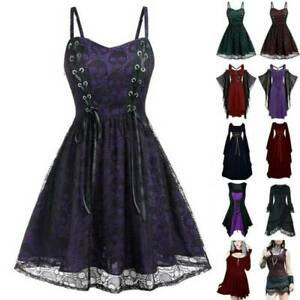 Womens Fancy Dresses Medieval Renaissance Gothic Cosplay Party Costume Outfits