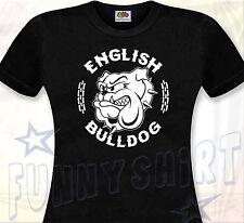 T-SHIRT FEMME ENGLISH BULLDOG - Bouledogue Anglais Molosse Chien Dog British