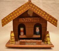 Wooden Weather House Kansas Souvenir Made in Japan 4.5 in. tall x 5 in. long