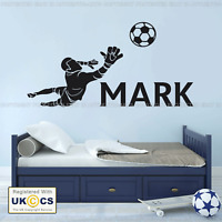 Football Wall Sticker Goal Keeper Personalised Name Bedroom Vinyl Art Mural