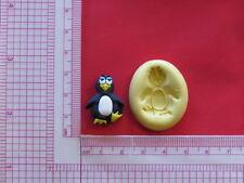 Penguin Silicone Mold Bookscrapping Resin Clay A895 Cake Fondant miniature
