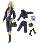 5PCS Set Outfit Doll Clothes+bag+boots For 11 in. Doll a02