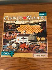 Charles Wysocki 1000 Piece Puzzle Pumpkin Hollow