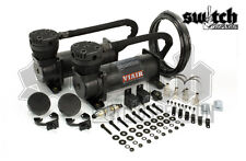 Viair 480C Dual Pack Stealth Black Air Ride Bag Suspension Compressor (48042)