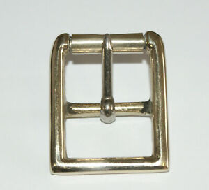 """SOLID NICKEL DEEP WHOLE MILITARY ROLLER BUCKLES 1 1/8"""" (28mm) - CLEARANCE"""