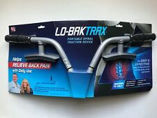 New Lo-Bak Trax Portable Spinal Stretcher Traction Device Back Pain w/ Dvd