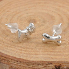 Fashion Hot Dog & Bone Party Stud Mini Asymmetric Earrings Jewelry Gift