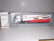 "Herpa #867042 Mercedes Cab w/Amg Karcher Team Racing Trailor ""White"" H.O.Gauge"