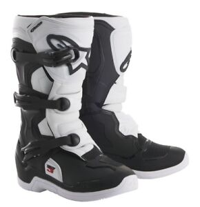 ALPINESTARS TECH 3S YOUTH BOOTS WHITE BLACK NEW KIDS JUNIOR MX CHEAP MOTOCROSS