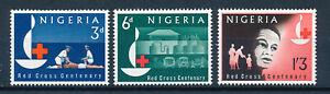 NIGERIA 1963 RED CROSS CENTENARY SG135/137  MNH