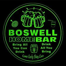 4x ccq04800-g BOSWELL Home Bar Ale Beer Mug 3D Etched Drink Coasters