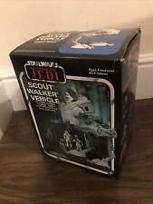 More details for vintage star wars at-st scout walker 1982 with original box stunning example
