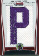 2009 BOWMAN CHROME CEDRIC PEERMAN NFL LETTER PATCH JERSEY AUTO BCAP-CP 1/2