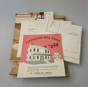 Vintage Victoriana Doll House Plans Patterns By Americana Models