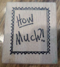 1989 Neato Stuff How Much? Wooden Rubber Stamp