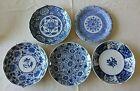 5 Vintage blue and white Japanese wall hanging plates  4 Takahashi 1 Sanyo EUC