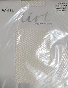 White Micronet Fishnet Tights By Flirt P9