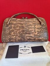 Authentic PRADA Vintage snakeskin python Leather Carry Bag
