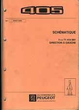 (120) MANUEL ATELIER SCHÉMAS ÉLECTRIQUES PEUGEOT 405 de 1995