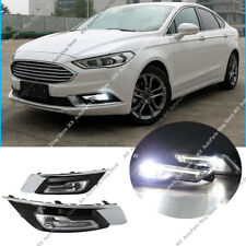 For Ford Fusion Mondeo 2017-2018 LED Driver Fog Light DRL Daytime Running lamp k